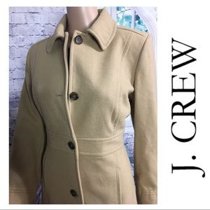 Lined Tan Trench Coat By J. Crew
